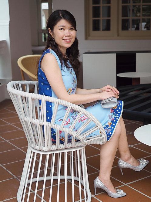 Dua Wama Dress (Blue)