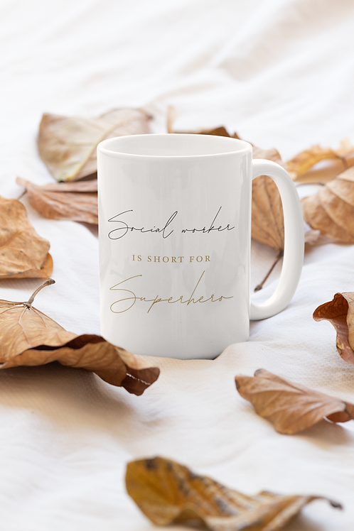Social worker is short for Superhero | White Plain Mug