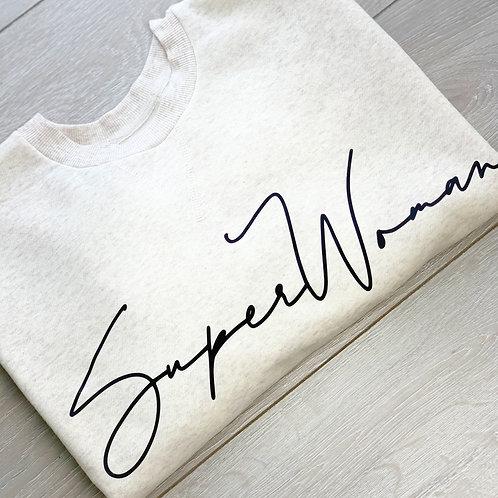 Superwoman Crop Sweatshirt  (Grey)