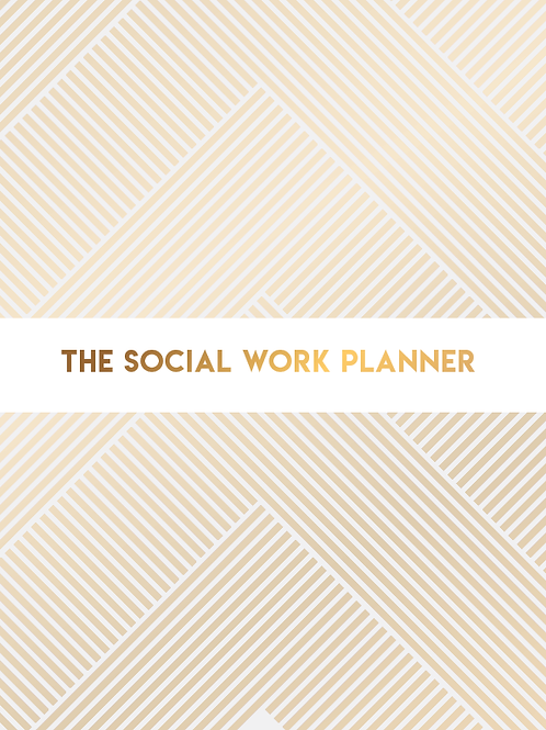 2020 | Social Work Planner | One day per page