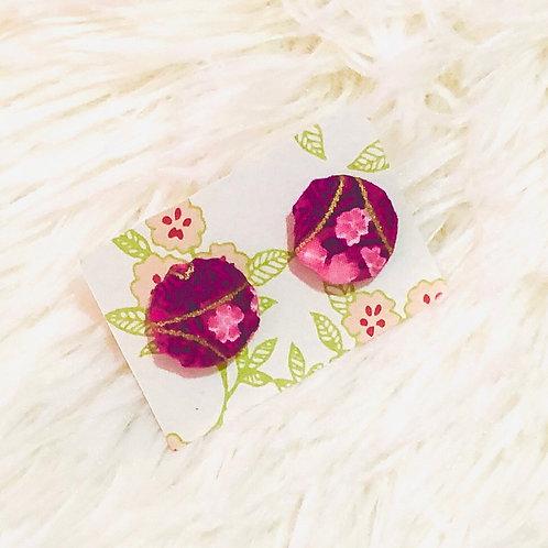 Orielle Cheongsam Earrings - Purple