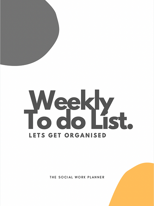 Weekly Task (To do List) Planner
