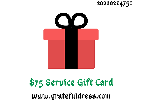 $75 Service Gift Card