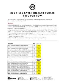360 YIELD SAVER Instant Rebate Form - GR