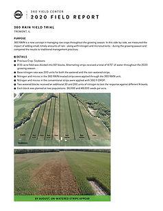2020 Yield Results - 360 RAIN Plot Resul