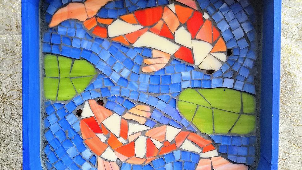 Koi Fish wooden tray