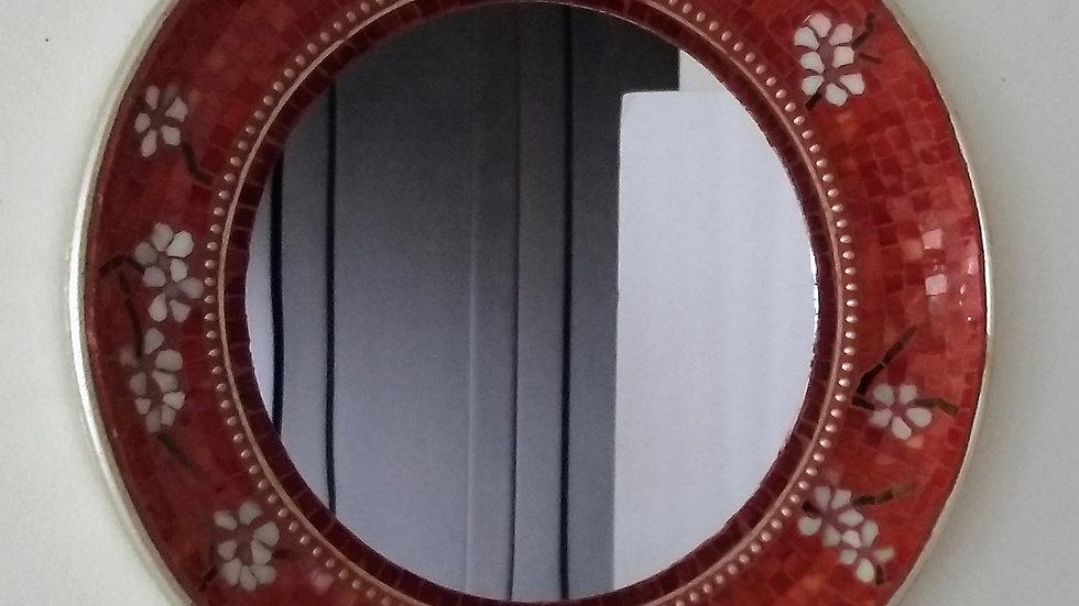Almond blossom mosaic mirror