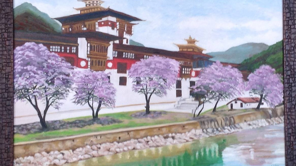 Punakha Donz and Jacaranda bloom