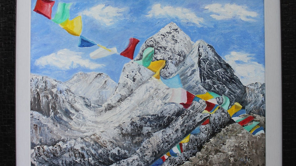 Himalayas and the Mystic prayer flags