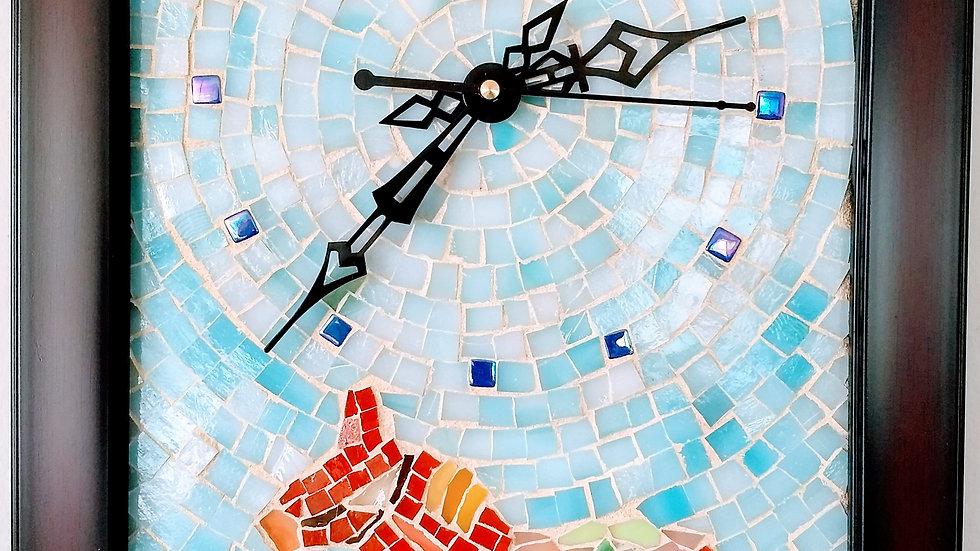 Dala Horse mosaic clock