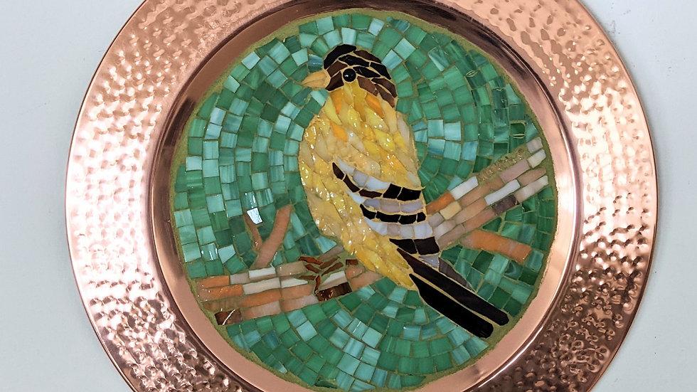 Goldfinch copper plate