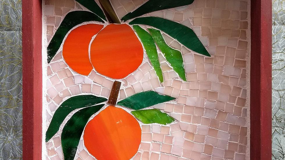 Orange mosaic tray