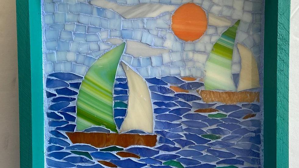 Sail boats tray