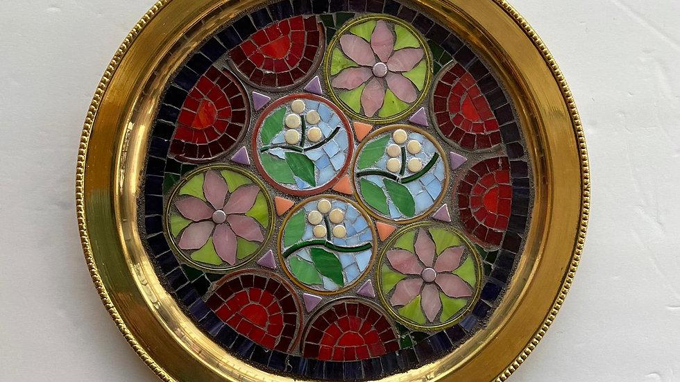 Garden Mandala brass plate