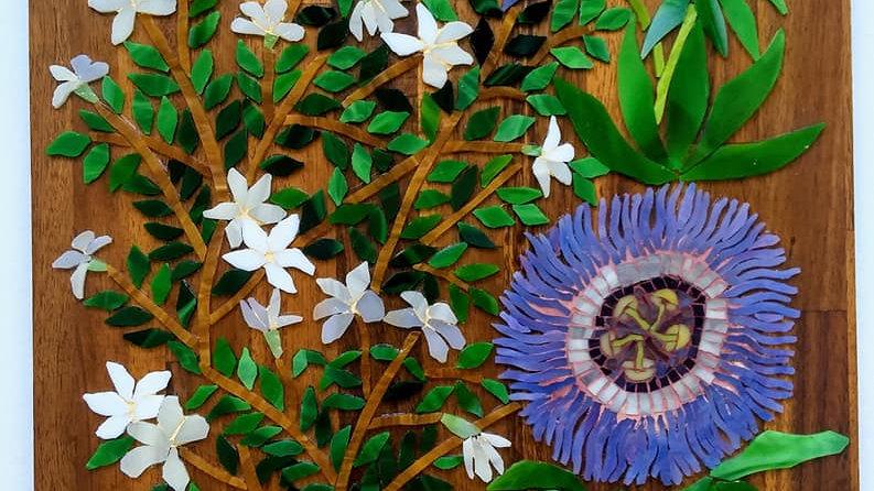 White Jasmine and passion fruit flower