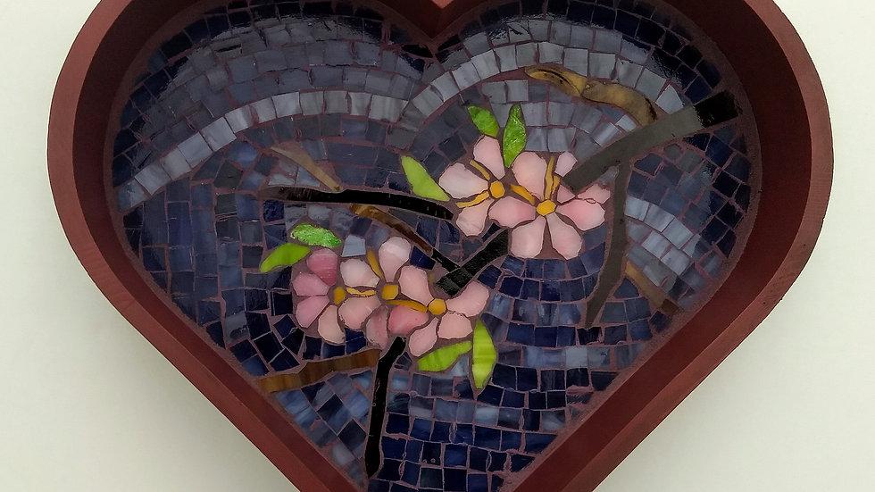Cherry blossom heart shaped tray