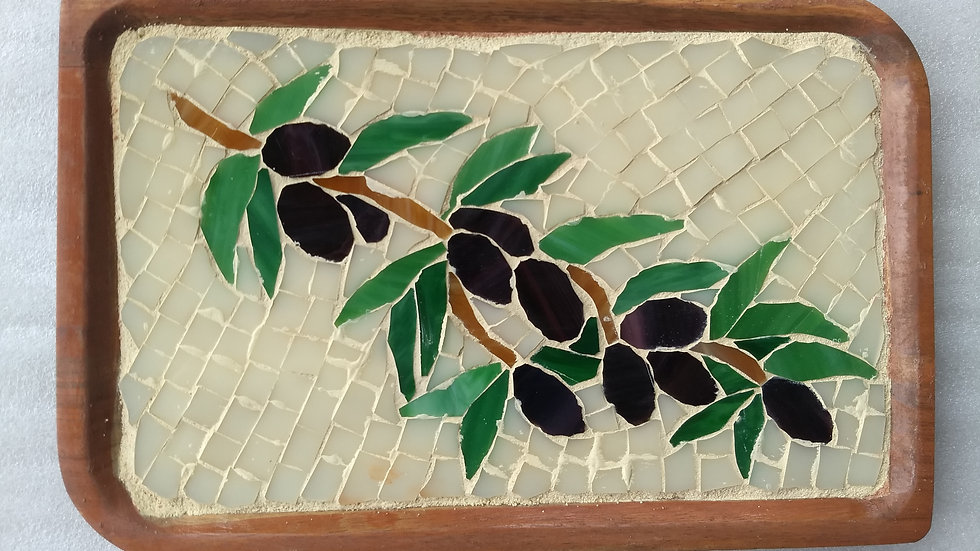 Olive branch tray