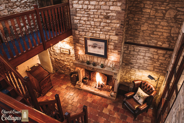 Church Court Cottages Cleeve Fireplace