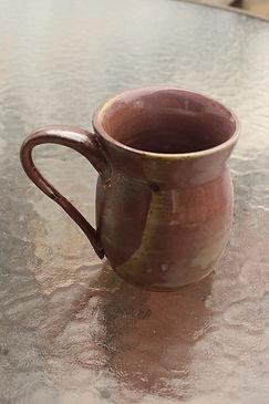 """Mug Purple Glaze 4"""" wide by 5"""" tall $15"""