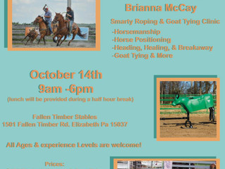 Roping Clinic October 14th 2018