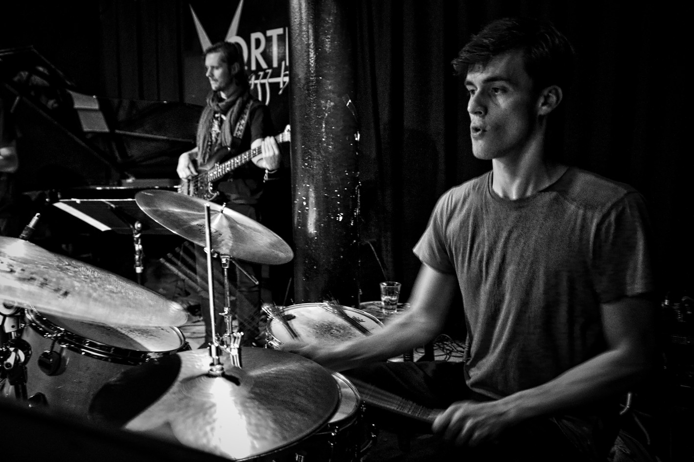 Ben Brown and Joe Downard with Billy Marrows Quartet at the Vortex.jpeg