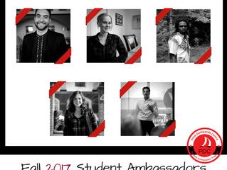 Meet the Fall 2017 Student Ambassadors