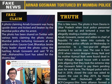 Fake News #F195 -Arnab Goswami Tortured By Mumbai Police