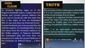 Fake News #F179 -  Azerbaijani air attack on Armenian forces