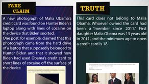 Fake News #F189 - Hunter Biden Used Malia Obama's Credit Card to Snort Cocaine