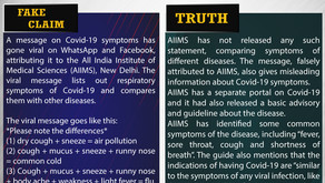 Fake News#F145 - Differences in symptoms between Covid-19, flu and common cold.