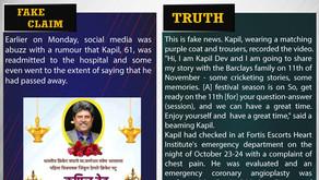 Fake News #F193 - Kapil Dev passed away