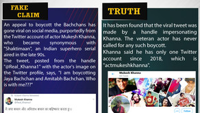 Fake News #F169 -  Mukesh Khanna boycott Bachchans