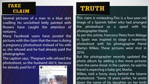 Fake News #F182 - Man did a  pregnancy photoshoot