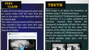 Fake News #F205 - PM Modi Doing Yoga In His Young Days