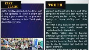 Fake News #F199 - Walmart Providing Free Thanksgiving Dinner for All