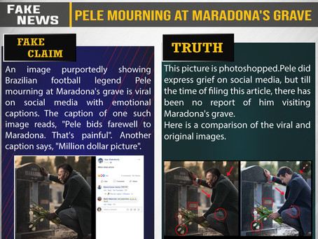 Fake News #F208 - Pele mourning at Maradona's grave