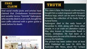 "Fake News #F202 - Zimbabwean Businessman ""Ginimbi"" Predicted His Death"