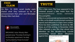 Fake News #F200 - Actor Woody Allen passed away
