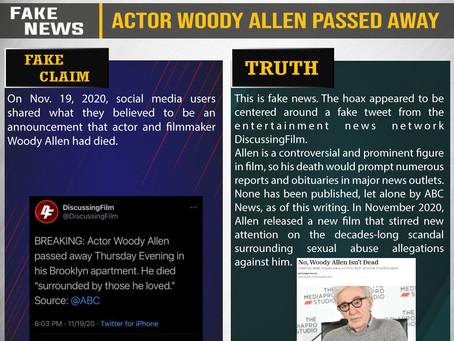 Fake News #F200 - Actor Woody Allen passed away