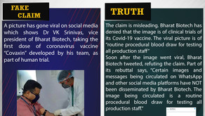 Fake News#F128 – Bharat Biotech VP taking the first dose of anti-Covid drug 'Covaxin'