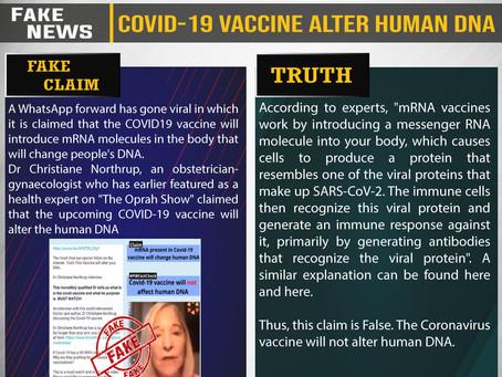 Fake News #F204 - COVID-19 vaccine alter human DNA