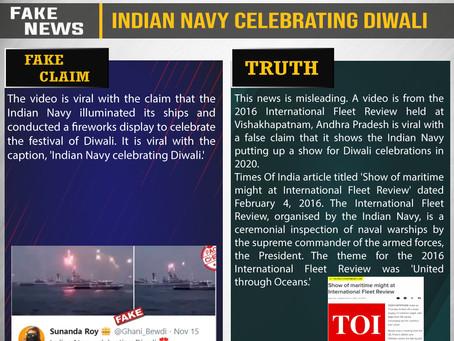 Fake News #F201 - Indian Navy celebrating Diwali