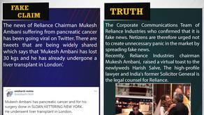 Fake News #F194 - Mukesh Ambani Suffering From Pancreatic Cancer
