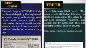 Fake News#F113 - Corona may peak in Mid November in India