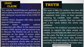 Fake News#F158 - Putin's Daughter Died After Taking COVID-19 Vaccine