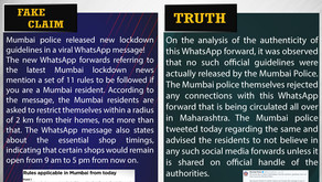 Fake News#F124 – Mumbai new Lockdown Rules