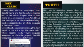 Fake News #F187 - Telugu is an official language in the US