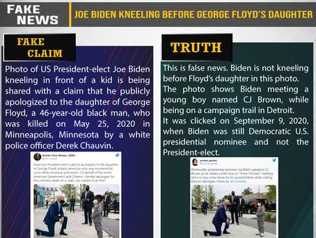 Fake News #F207 - Joe Biden kneeling before George Floyd's daughter