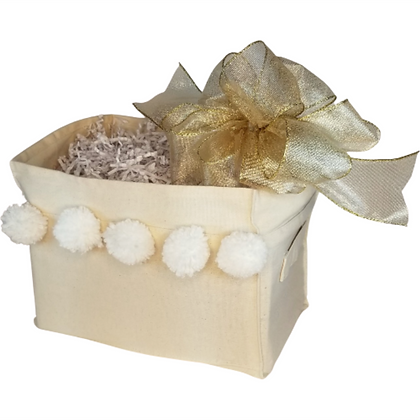 Canvas Box with Gold Bow
