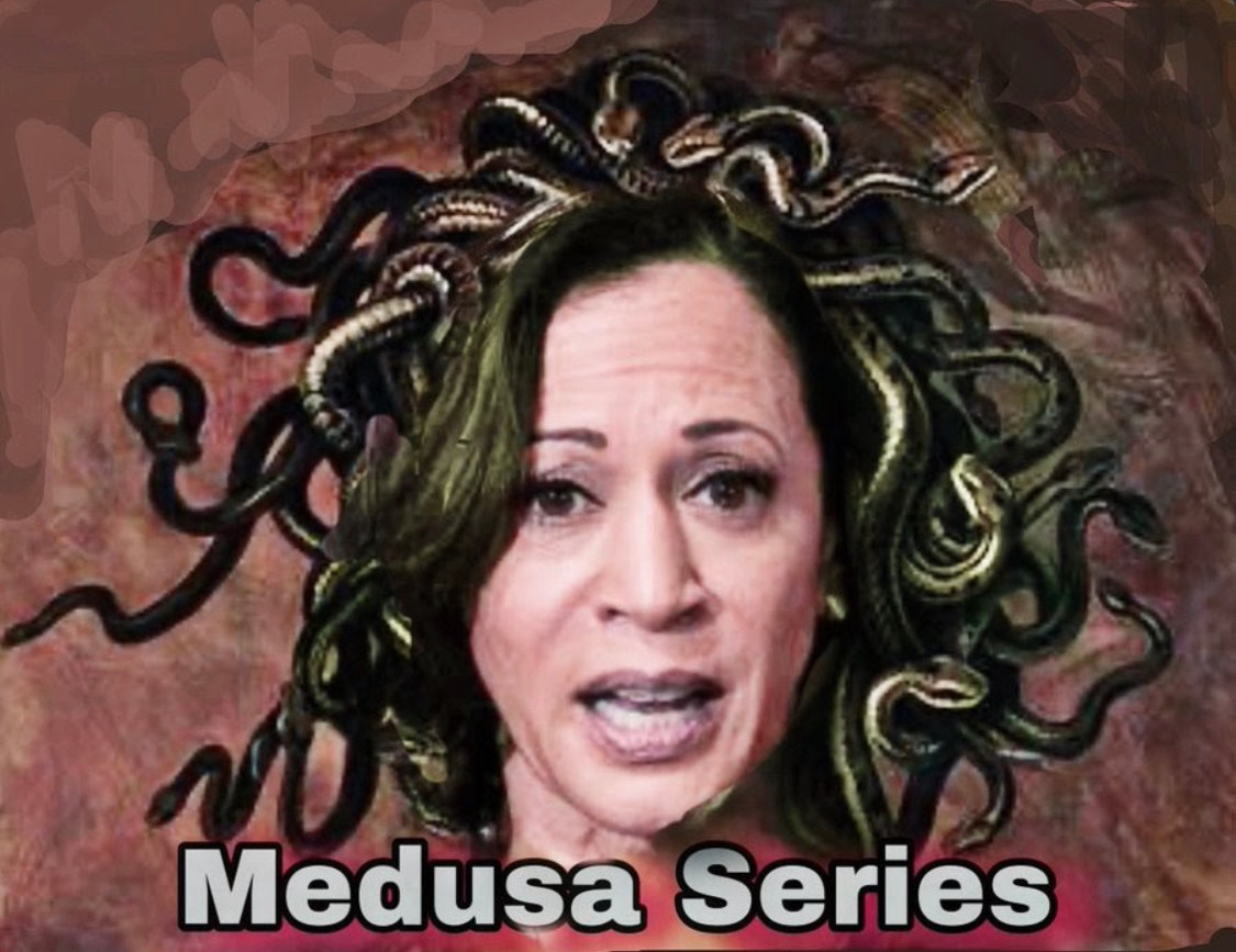 Kamala Harris as Medusa